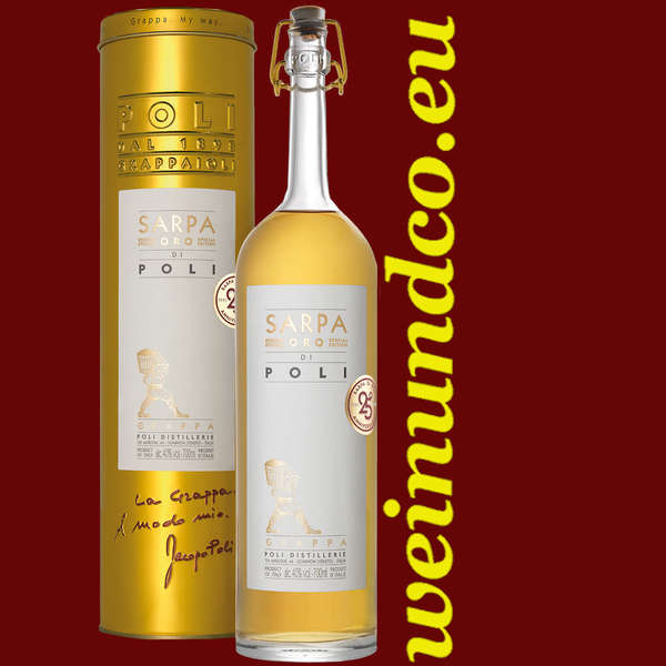 Jacopo Poli Grappa Sarpa Oro Barrique